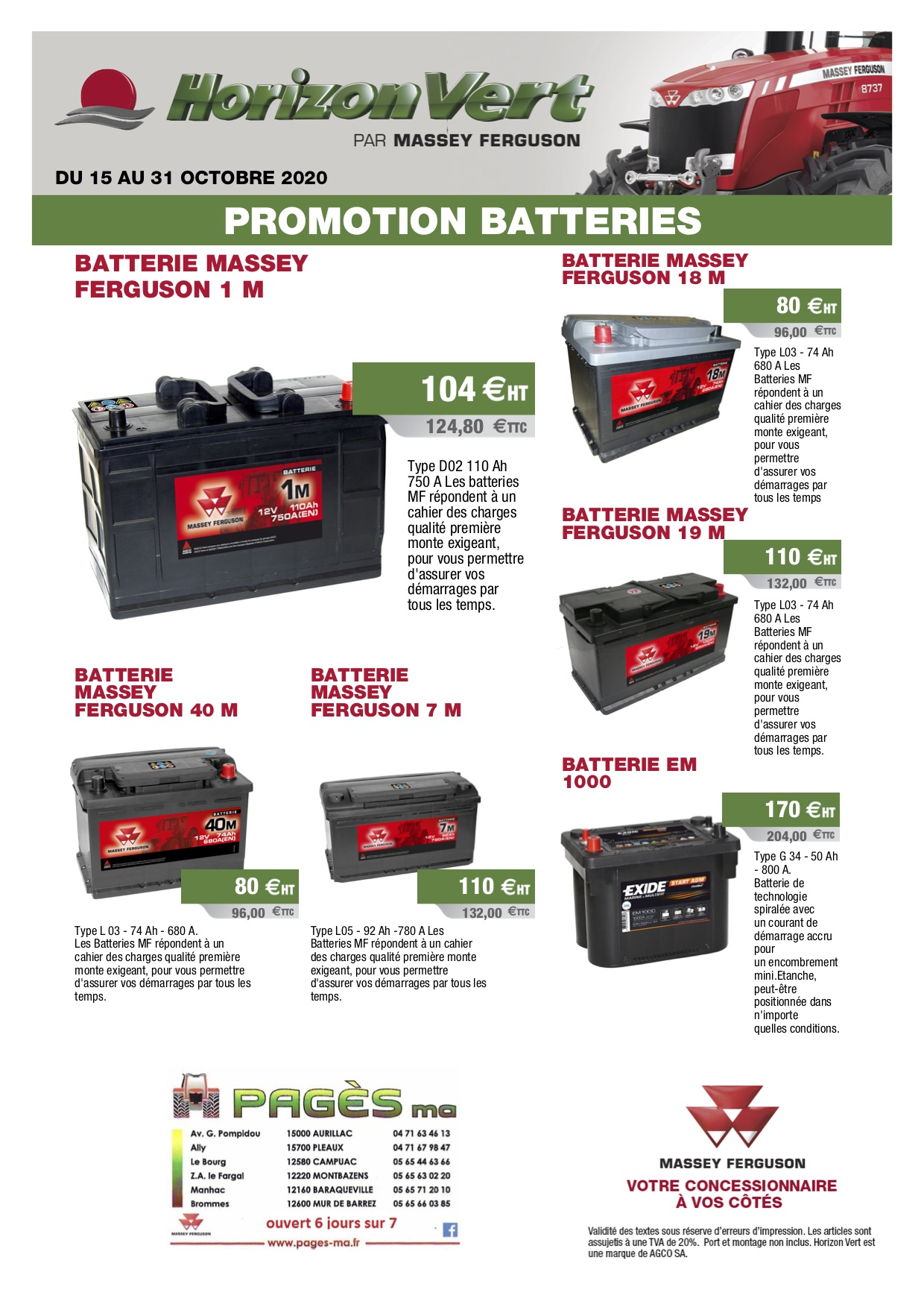 Promotion batteries